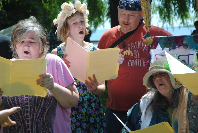 The Making Room Choir performs