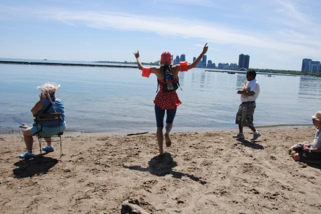 Cressida launches the book into Lake Ontario