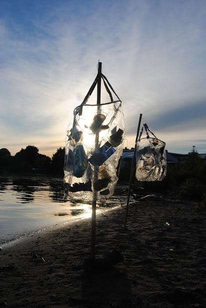 The bag lanterns at sunset