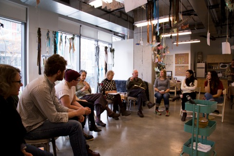 Gathering with Jumblies artists at The Ground Floor