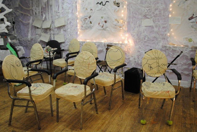 37. embroidered chair covers